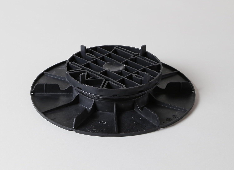 60 Stk Stellfüße für Plattenlager Höhenausgleich 30-40 mm mit Aufsatz 10 mm Fundament für Fliesen Platten Keramik Beton Unterkonstruktion Stelzlager