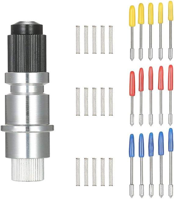 Graphtec Blade CB09 CB09U 15PCS 30 ° / 45 ° / 60 ° Cuchillas con base de soporte de cuchillas, cuchillas de corte de plotter de corte de vinilo (juego Graphtec): Amazon.es: Bricolaje y herramientas