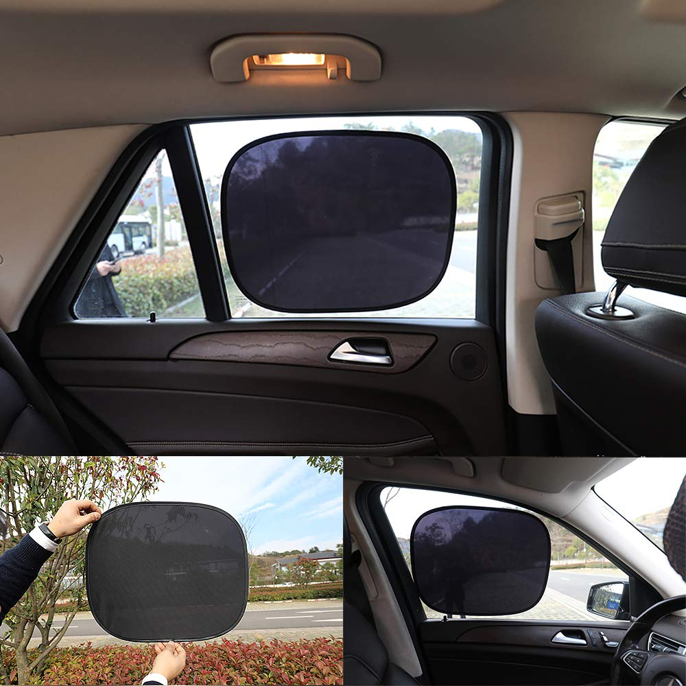 ODOMY Car Window Shade,Car Sun Shade for Baby,2 Layer Design Windshield Sunshade Sun Glare and UV Rays Protection for Your Baby