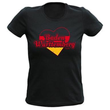 Lady Shirt Deutschland Herz Baden Württemberg Damen Shirt