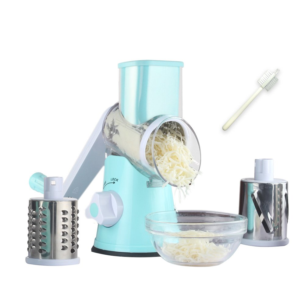 Amazon.com: Manual Rotary Cheese Grater Round Mandoline Slicer with ...