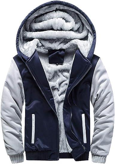 manadlian Homme Sweatshirt Capuche Automne Homme Manteau