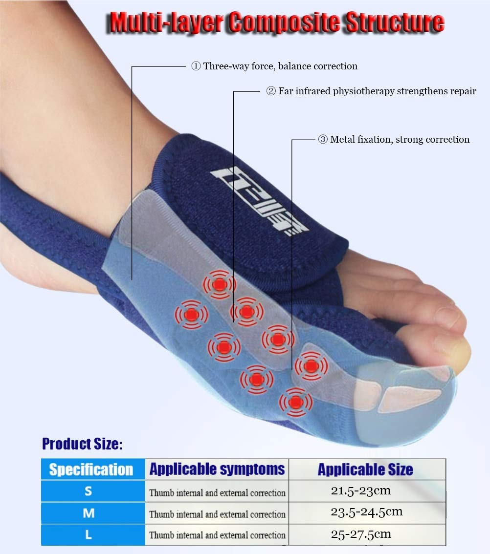 CXDM Bunion Corrector Pain Relief Overlapping Toe Big Bones Hallux Valgus Orthosis Unisex Effective and Comfortable Correction Splint,Left,Large by CXDM