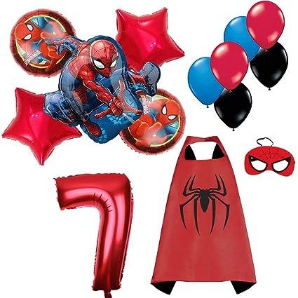 Amazon.com: CuteTrees Spiderman Spider Hombre 7º cumpleaños ...