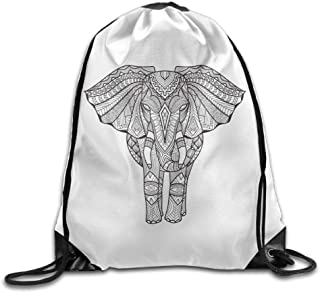 DHNKW Folding Sport Backpack Casual Daypacks for Team Group Men Women - (Awesome Mandala Elephant)
