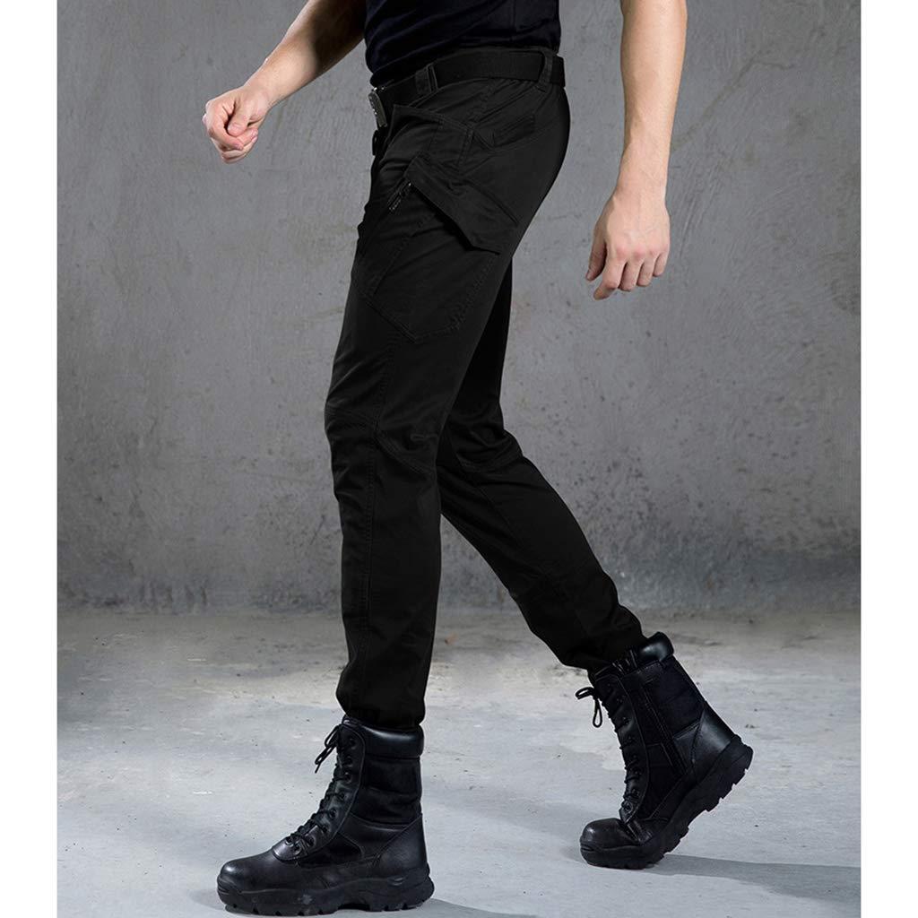 MzddZ Hommes Respirant Pantalon Tactique en Plein air Coupe-Vent R/ésistant /à lusure Pantalon Softshell avec Ceinture pour Combat Exploration Escalade Aventure