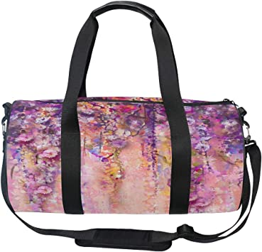 Abstract Flowers Sports Bag