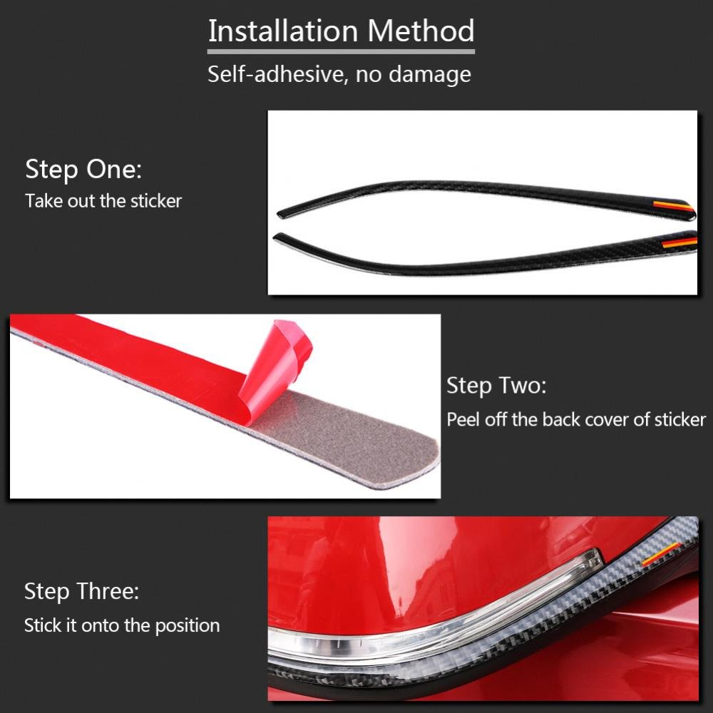 Rearview Mirror Frame Cover Trim Carbon Fiber Rearview Mirror Strip Decal Decoration Protector for New 3 Series F30 F34 F35 2013-2018 A