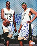 Dwight Howard Signed Photo - & Morris 8x10 HS To Eric - PSA/DNA Certified - Autographed NBA Photos