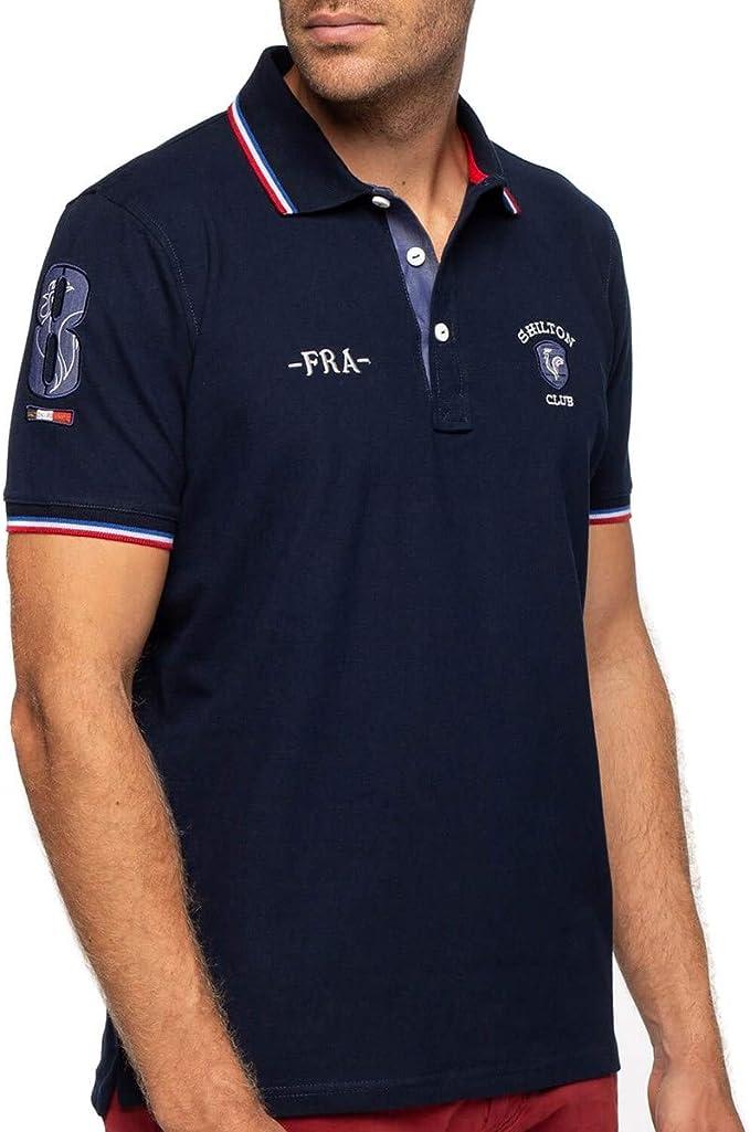 Shilton Rugby France - Polo de Manga Corta Azul Marino L ...