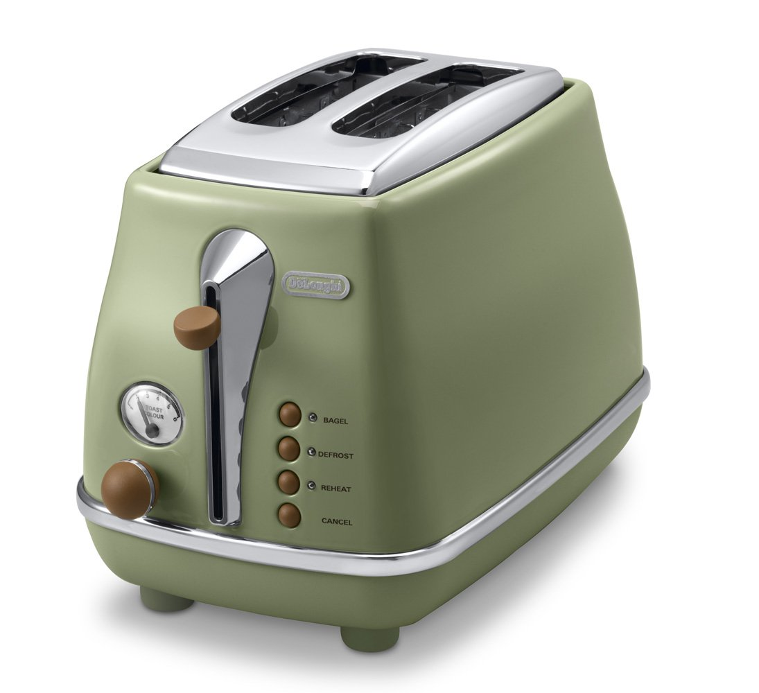 DeLonghi Pop-up toaster「ICONA Vintage Collection」CTOV2003J-GR (Olive green)【Japan Domestic genuine products】