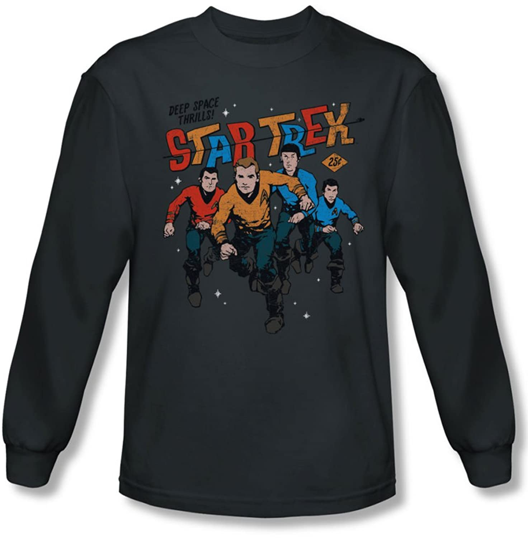Star Trek - Mens Deep Space Thrills Longsleeve T-Shirt