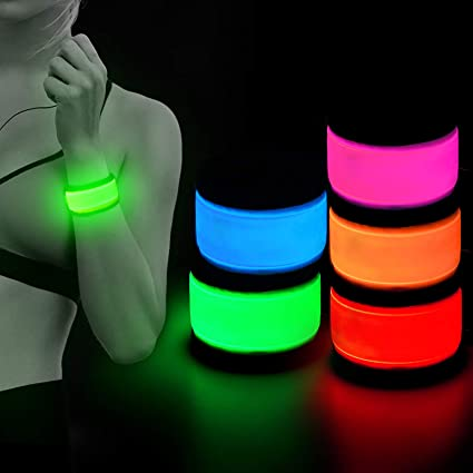 Choose From 4 Colors /& Bike Riders Joggers LED Light Arm Band for Runners