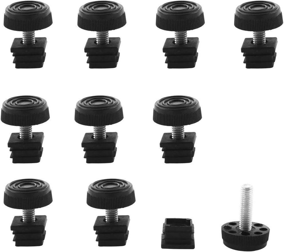 sourcing map Pies Niveladores Ajustables 1 25mm Od Tubo Redondo Para Insertar En Las Patas De Los Muebles Deslizante 2 juegos 25xM8 30