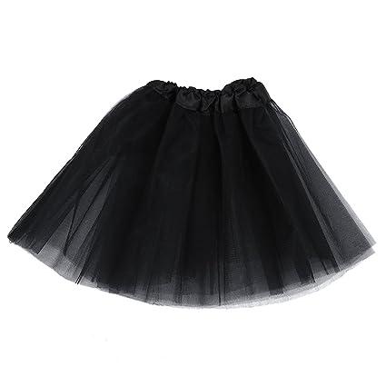 Timagebreze Tutu/Falda De Tul Negro Disfraz Bailarina Ballet ...
