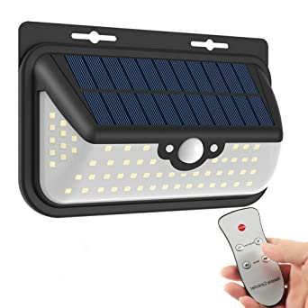 Outdoor solar lights with remote control muifa sp706 motion sensor outdoor solar lights with remote control muifa sp706 motion sensor 68 led 800lm bright weatherproof workwithnaturefo