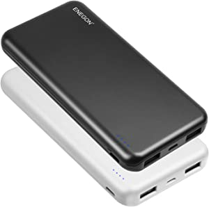 ENEGON 2-Pack Portable Power Bank 10000mAh, The Phone Charger Battery with USB C Input and Dual USB Output for iPhone, iPad, Galaxy S9,Tablets and More