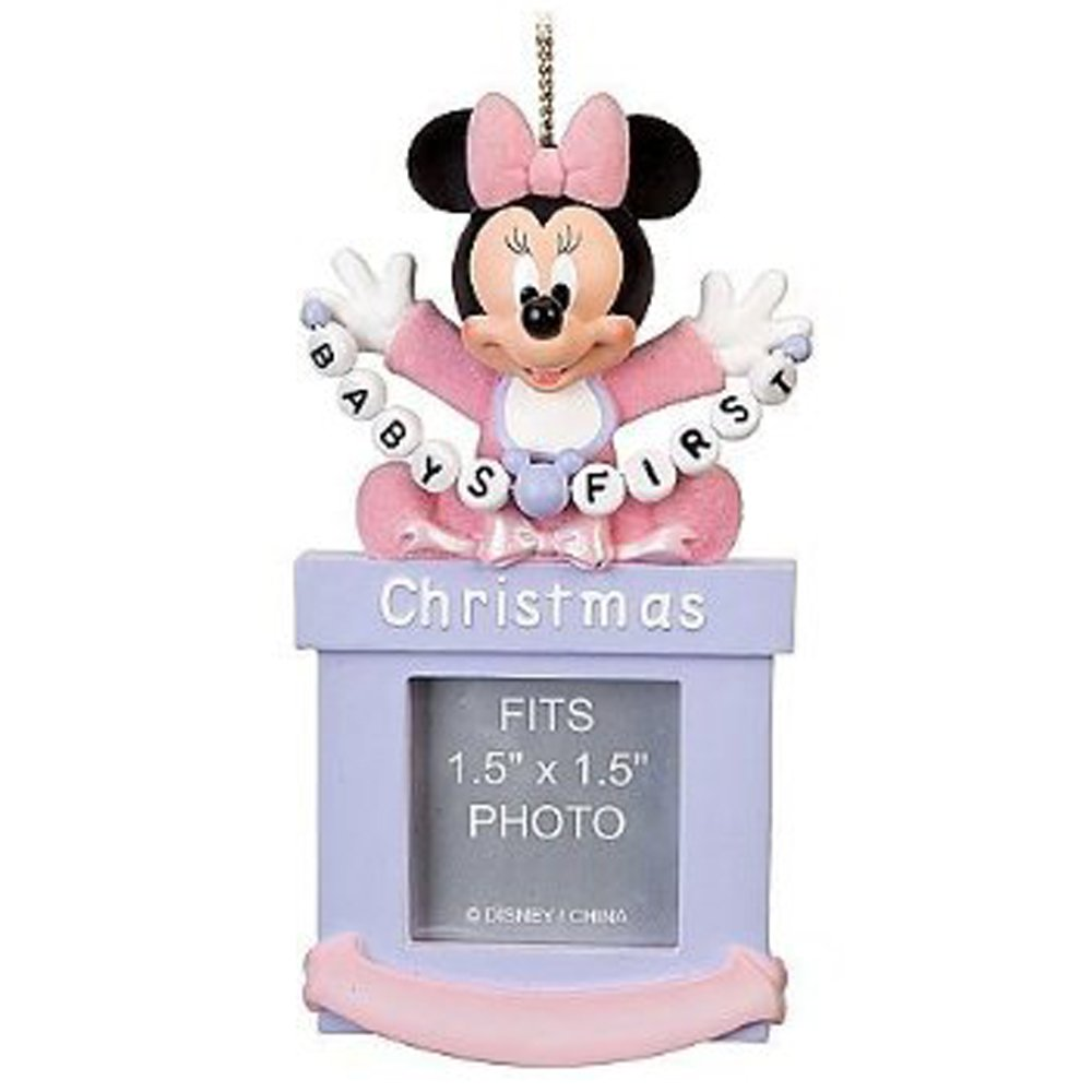 Amazon.com : Disney Baby Girls First Minnie Mouse Photo Frame ...