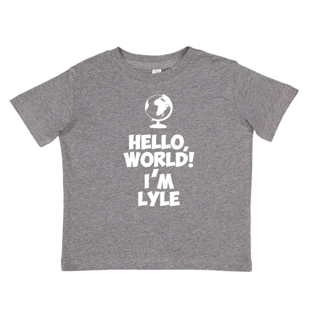 Personalized Name Toddler//Kids Short Sleeve T-Shirt Mashed Clothing Hello Im Lyle World