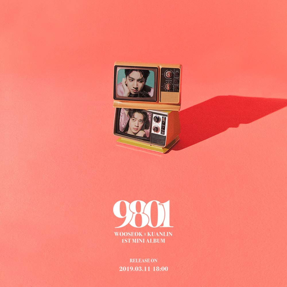 Cube Entertainment WOOSEOK X KUANLIN - 9801 (1st Mini Album) CD+Booklet+1Sticker+1Photocard+Folded Poster