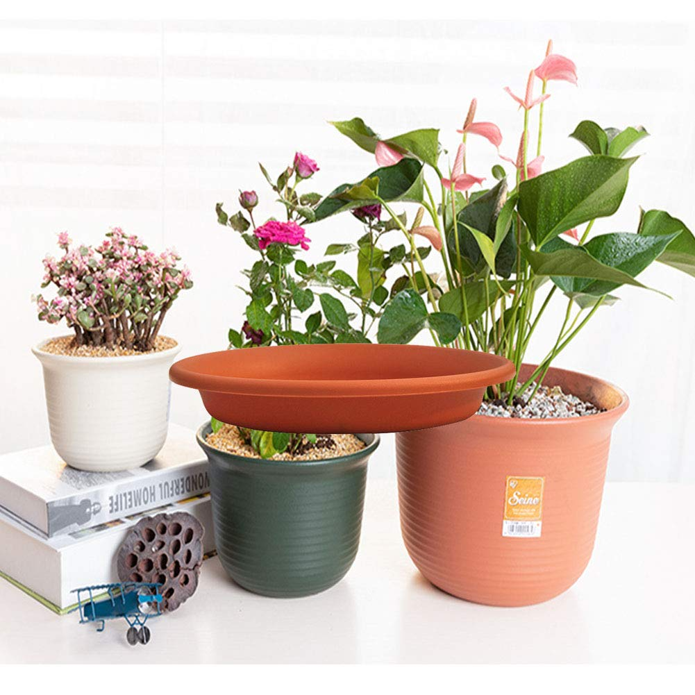 Indoor Outdoor Plant Water Drainage Tray Great for Holding Water Drips and Soil 21 x 3.5 cm 3Pcs Plastic Flower Pot Saucer Garden Plant Drip Tray zosenda Plant Pot Saucer