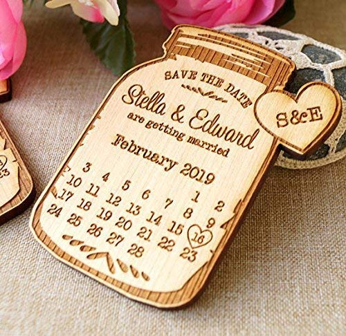save the dates Save the date mason jar magnets wedding save the date wedding announcement magnets 25 pc wooden save the date magnets
