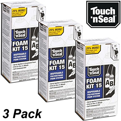 Touch n' Seal Spray Foam Insulation Kit 4004520015 DIY - 15 BF (Quantity of 3 Kits)