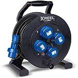 ENECEN 2032225 Kabeltrommel XREEL 230V/16A K2 IP68 Gummi H07RN-F 3x2,5mm² schwarz druckwasserdicht 25m