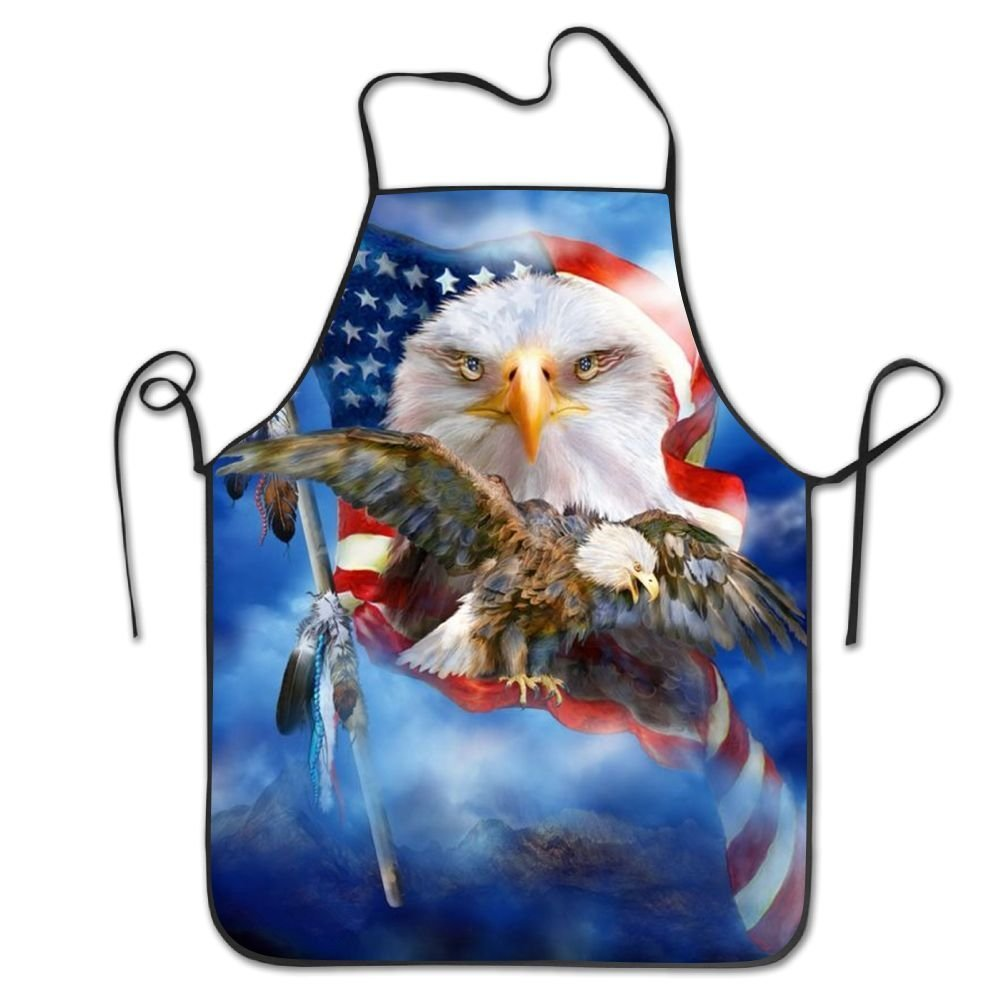startoronto American Flag Eagle Aprons For Women/men Black Grilling Personalized Overhand Funny Chef Apron