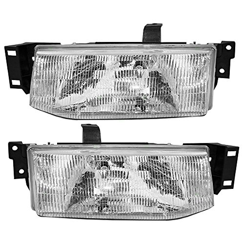 Driver and Passenger Headlights Headlamps Replacement for Ford F1CZ13008B F1CZ13008A AutoAndArt