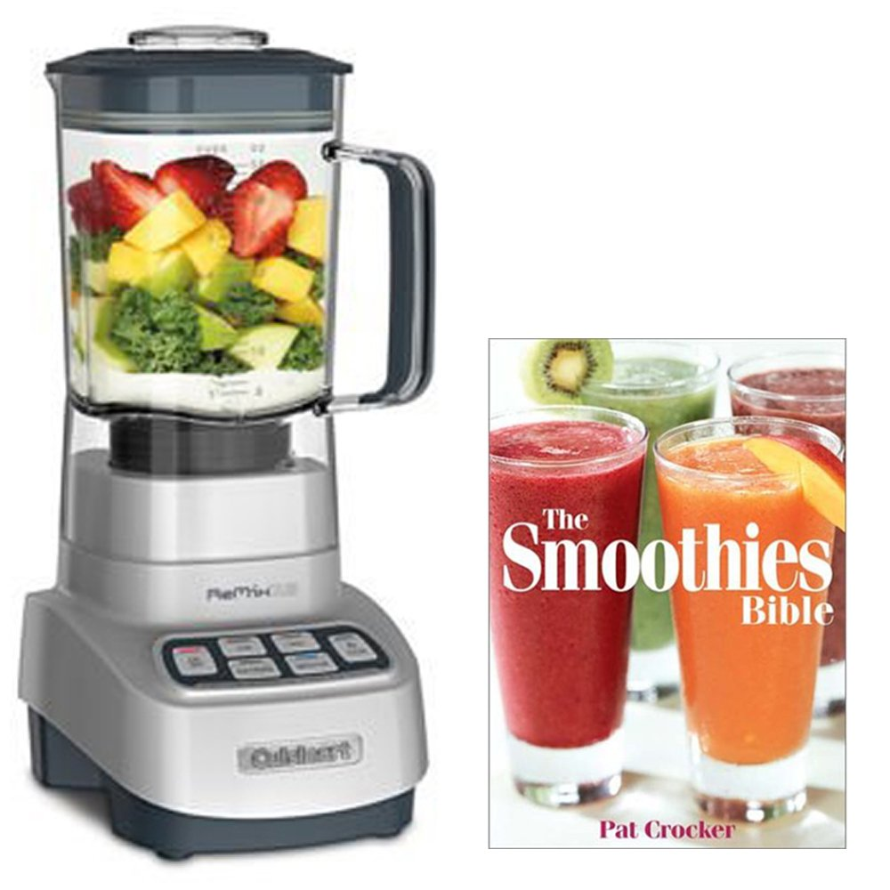 Cuisinart CB-1300PC Powerful Heavy Duty Blender VELOCITY Ultra 1 HP Motor with Programmed Ice Crush and Smoothie controls with Smoothie Recipe Book