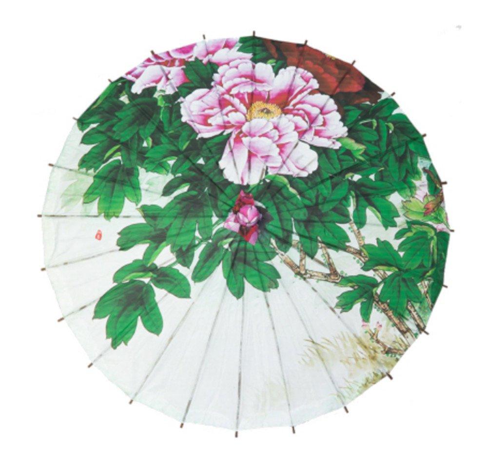 Srovfidy retro cinese Paper Parasol Bamboo Classical oil Paper umbrella-lotus Lotus