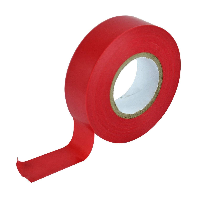 3X PVC Elect Tape 19Mm X 20M - Red Faithfull