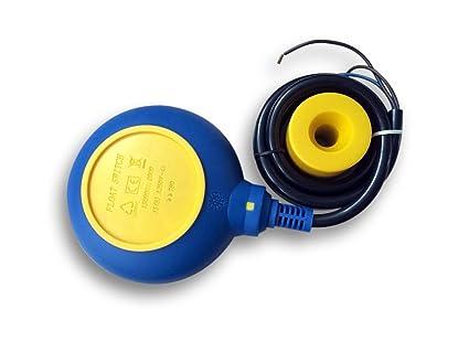 Interruptor de flotador de PVC Interruptor de nivel Interruptor de palanca Cable: 5m 250V 16A
