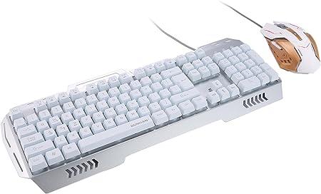 mi-eshop K3 USB Wired Optical Gaming Teclado y Ratón Set, con ...