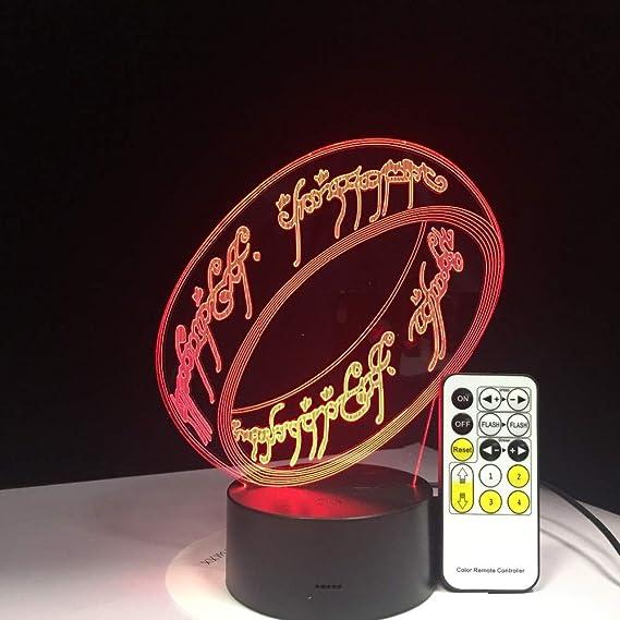 BFMBCHDJ El Señor de los Anillos Lámpara 3D 7 colores Regalo para ...