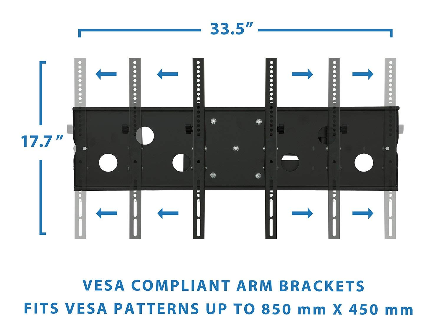 Mount-It! Long Arm TV Wall Mount With 26 Inch Extension, Swing Out Full Motion Design for Corner Installation, Fits 40 50, 55, 60, 65, 70 Inch Flat Screen TVs, 220 Pound Capacity by Everstone (Image #7)