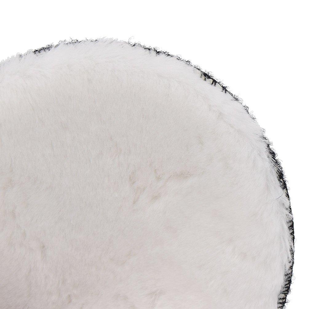 Kesheng Faux Wool Polishing Buffing Bonnet Pad for Car Auto Polisher Pack of 2pcs