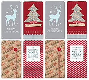 Pack Of 8 Christmas Money Wallet Gift Cards & Envelopes - Modern ...
