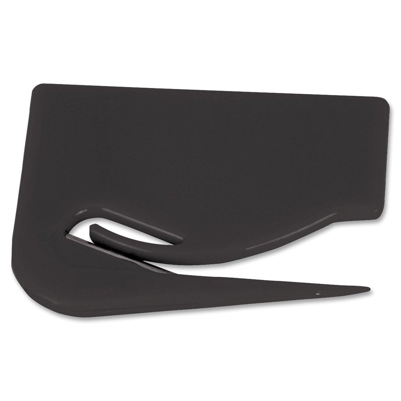 S.P. Richards Company Letter Opener, Plastic, 2-7/8 x 2-1/8 Inches, Black (SPR11818)