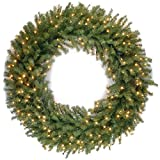 National Tree 48 Inch Norwood Fir Wreath with 300 Warm White LED Lights (NF-318L-48W)
