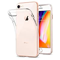 Coque iPhone 7, Coque iPhone 8, Spigen® [Liquid Crystal] Ultra Mince Premium TPU Silicone [Crystal Clear] Premium transparent / Exact Fit / NO Bulkiness Souple Coque Pour iPhone 7 (2016) et iPhone 8 (2017) - (042CS20435)