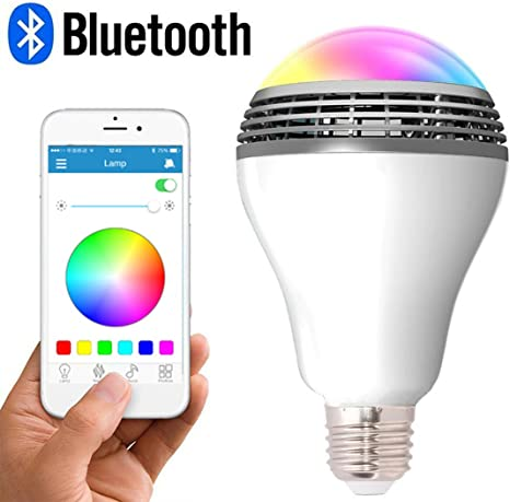Amazon Com Led Smart Light Bulb With Bluetooth Speaker And App Control Rgb Multi Color Changing Dimmable Y01 Home Improvement