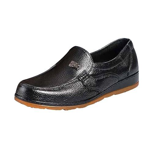Xinwcang Hombre Mocasines Clásico Zapatos Casuales, Casual Elegante Transpirable Antideslizante Oficina Shoes: Amazon.es: Zapatos y complementos