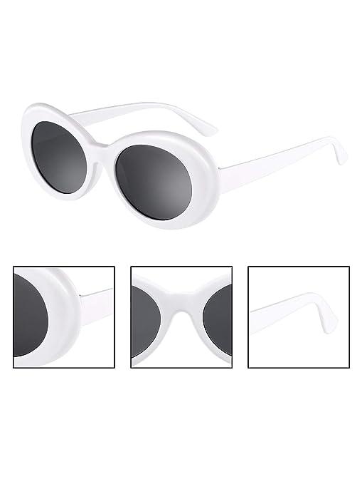 Gejoy Clout Oval Goggles Thick Frame Kurt Cobain Round Mod Retro Sunglasses Women Men Girl Boy