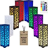 Decorative table desk Lamp Multi-colored Contemporary Design with remote controller energy efficient dimmable 5w LED color changing bedside room decor night reading light modern battery free bedroom