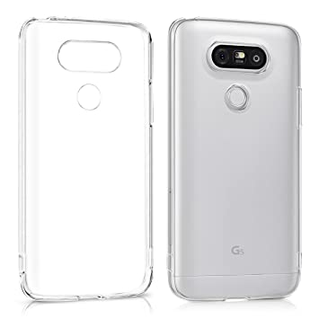 kwmobile Funda compatible con LG G5 / G5 SE - Carcasa de [TPU] para móvil - Cover [trasero] en [transparente]