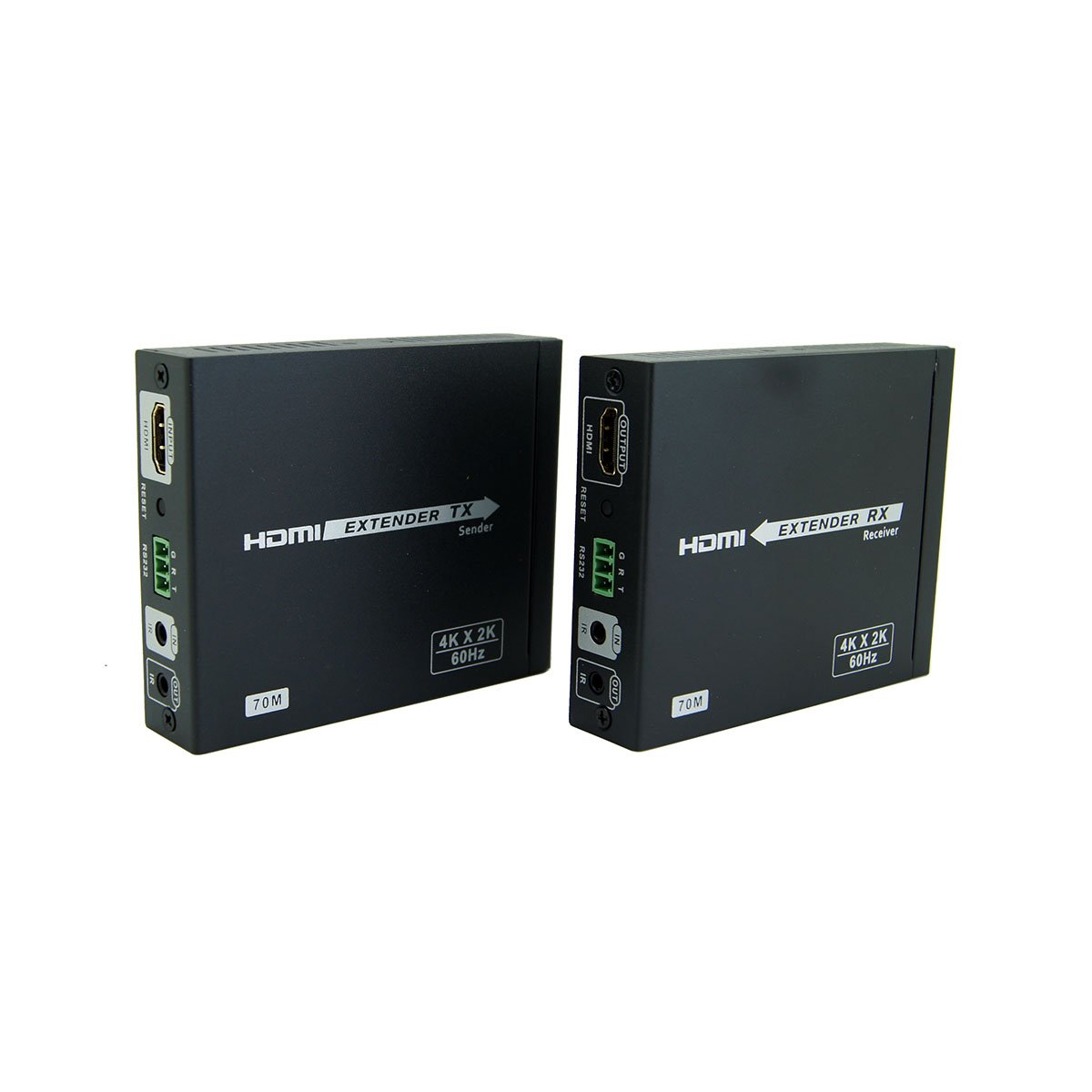 E-SDS HDBaseT2.0 HDMI Extender 4K@60HZ 4:4:4 Chroma, HDbaseT Extender over CAT6/6A/7 Cable up to 230ft Supports HDMI 2.0 18Gbps, HDR, HDCP 2.2, RS232, Bi-directional IR by E-SDS (Image #1)