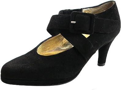 Italian Suede Dressy Low Heel Shoes