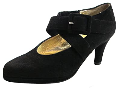 e46233e9761 Barbarella 0502 Women s Italian Suede Dressy low heel shoes